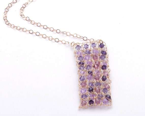 Purple Crystal Necklace - Kiss Me Quick
