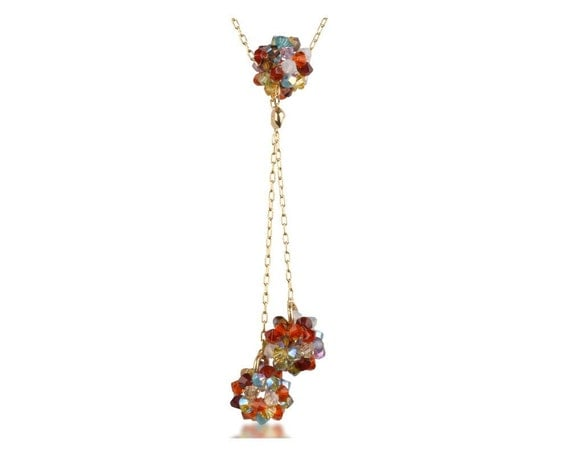 Cluster Lariat Necklace
