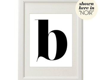 LETTER B (in NOIR - BLACK ON WHITE) Beautiful 8x10 on A4 Poster Print
