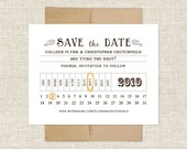 Train Ticket Save the Date