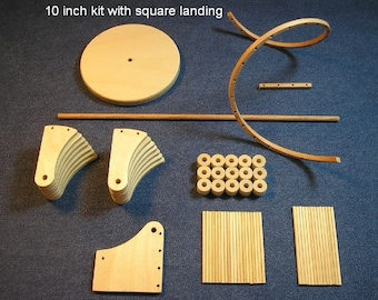 1/12 scale 10 inch Spiral staircase kit / square landing