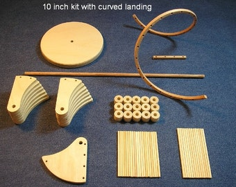 1/12 scale 10 inch Spiral staircase kit / curved landing.