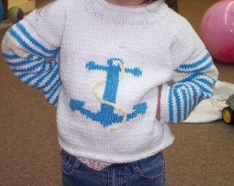 little child anchor  sweater