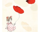 Flying with the Poppies - Print