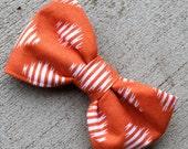 Boy's Orange Ikat Bow Tie - clip on