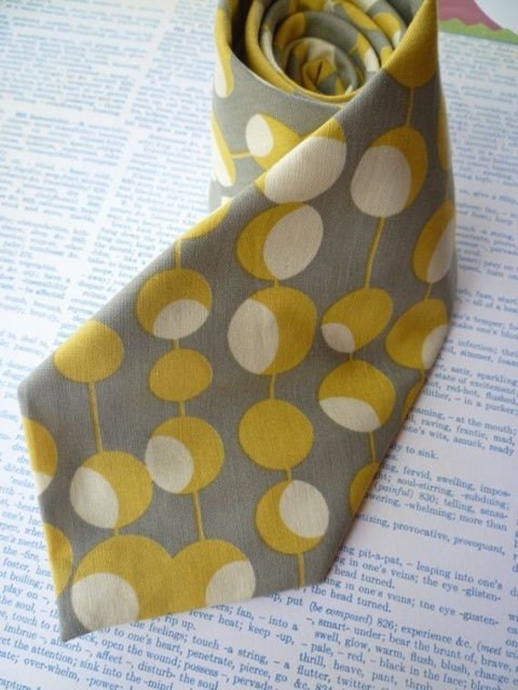 Mustard Martini mens traditional tie