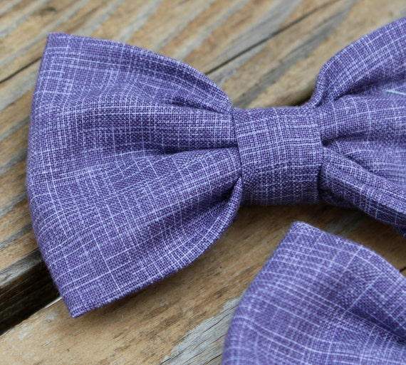 Purple Hatch Bow Tie - clip on, pre-tied with strap or self tying - for men or boys - wedding attire, groomsmen gift or ring bearer outfit
