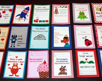 Printable Valentine's Cards for Kids
