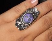 Sugar Skull Ring, Day of the Dead ring, Dia de los muertos ring, Calavera Ring, Cameo Ring