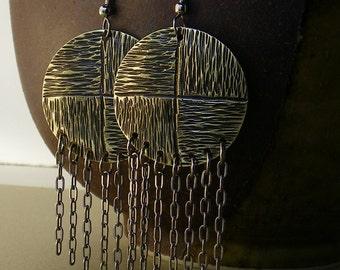 Hammered Brass Earrings SHIPS IMMEDIATELY Handmade Gypsy Earrings Handcut Hammered Brass Earrings Handmade Birthday Gifts for Her