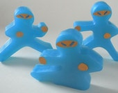 Ninja Bread Men Bath Soap - Set of 3 Different Shapes - You Pick ONE Color & Scent - Vegan