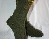 28 cm / 11 inches Beautiful Comfort - Soft, Slipper Socks, Hand knit socks - Unisex - US Men 10 - 11 Women 12 - 13 / EU 44 - 45