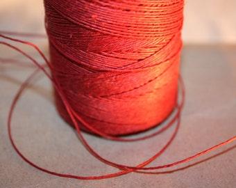 Dark Red Linen Thread = 50 Yards = 45 Meters of 1 mm diameter