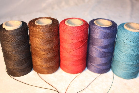 Set of 5 Colour Threads - 50 Yards - 1 mm diameter - Tie, Strap, Band, Rope, Twine - Last listing of this set