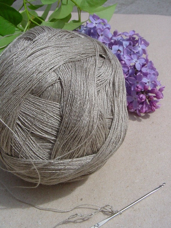 Linen Yarn 20 yards for Create or Fix Wonderful Linen Things