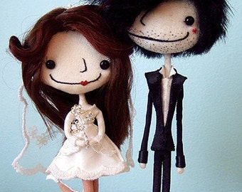Handcrafted Beautiful and Whimsical Custom Wedding Cake Toppers