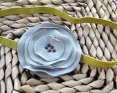 Grey Bloom Headband
