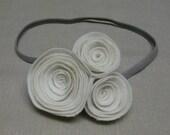 Cream Roses Trio Headband