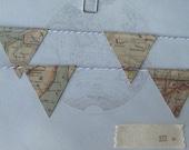 Vintage Atlas Mini Bunting