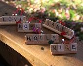 Custom Holiday Scrabble Ornament