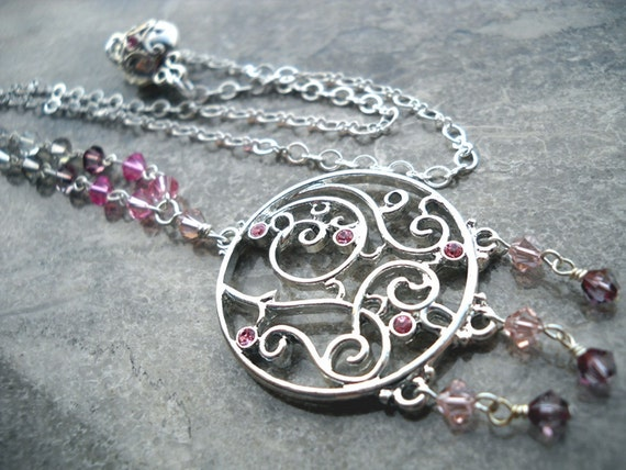 RESERVED for Krista - Cereus House, Kushiel's Legacy Inspired Necklace - All Loveliness Fades