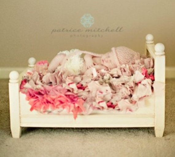 Newborn Photography Bed - Doll Bed - Photo Prop - antiquing included