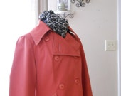 Vintage Spring coat womens coats outerwear coral salmon