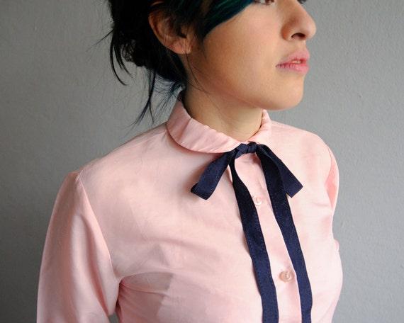 70s peter pan collar pink shirt / Camisa rosa cuello peter pan de los 70s