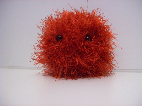 Passion Tribble Animals Red Black Little Cute Stuffed Crochet Amigurumi Star Trek Valentine's Day Love Heart