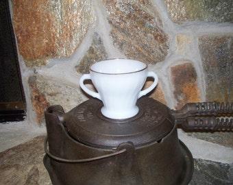 "Fire King/Anchor Hocking White Sugar Bowl 50's/60""s"