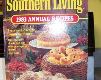 1983 Southern Living Hard back Annual Recipe Cookbook