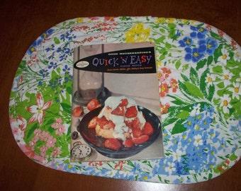 Good Housekeeping Quick N' Easy Cook book 1958 Vintage