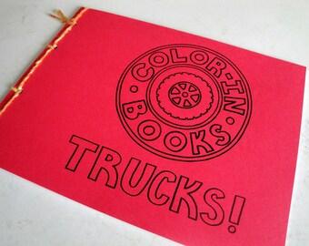Children's Coloring Book: Trucks