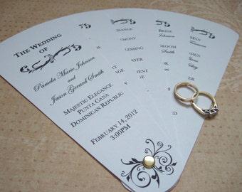 DIY Wedding Fan Program... pdf.  Digital download.  Wedding program.  Unique wedding fan.