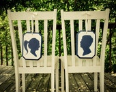 Bride And Groom Silhouette Chair Markers