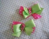 Flip Flop petite bows set of 2