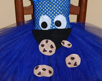 Cookie Monster Inspired Tutu Dress