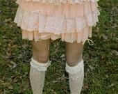 Peaches and cream rah-rah skirt OOAK shabby chic