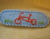 bicycle barrette - custom order for MomsCottage