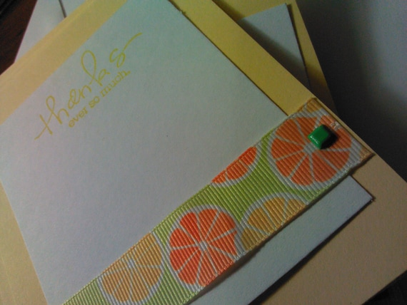 Citrus Thank Yous - Set of 12
