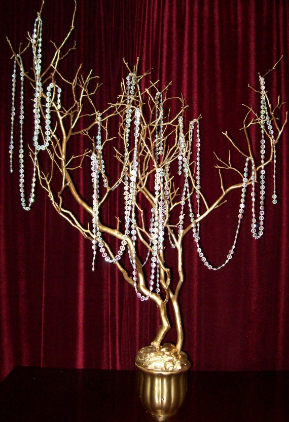 Items similar to cystal tree manzanita branch centerpiece