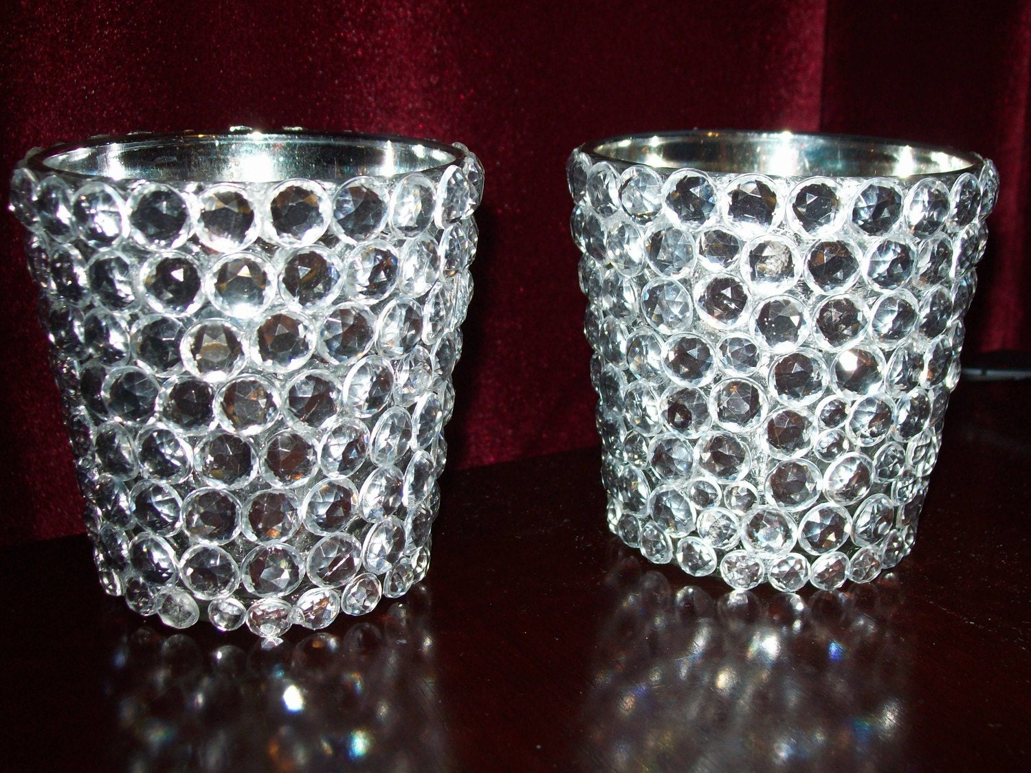 Bling Rhinestone Votives Candle Holder by SweetSylDesigns on Etsy