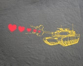 Mens tank shooting hearts- American Apparel Army- Size S, M, L,XL,XXL- WorldWide Shipping