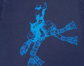 star wars AT AT cowboy on mens t shirt- american apparel navy, available in S,M, L ,XL, 2XL,  worldwide shipping
