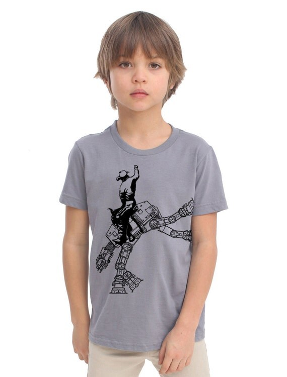 Star Wars At At Cowboy On Boys Kids Childrens T Shirt