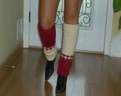 Brand New Hand Knitted Holiday Leg Warmers