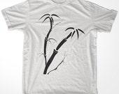 Retro Korea Asia Bamboo Tree men & ladies t-shirt  (id6517)