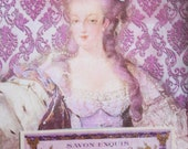 Marie Antoinette in Pink-ACEO ATC Card by Posh Alchemy