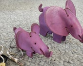 "Elephant - LARGE (3 1/2"" tall) - Handmade Leather Toys"