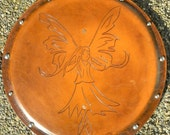 SHIELD - Fairy - Hand Carved Leather